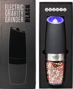 Black Gravity Salt and Pepper Grinder